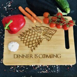 Tocător personalizat Dinner is coming
