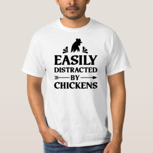 Tricou Barbat personalizat - Easily distracted by chicken