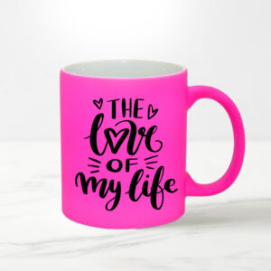 Cana NEON personalizata roz - the love of my life