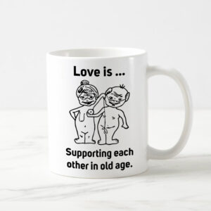Cana personalizata alba - Love is ...