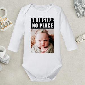 Body personalizat copil - No Justice - No Peace