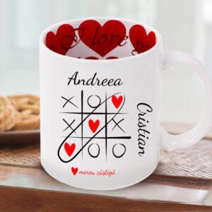 Cana personalizata I love you - x o