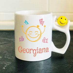 Cana personalizata minge smiley Georgiana