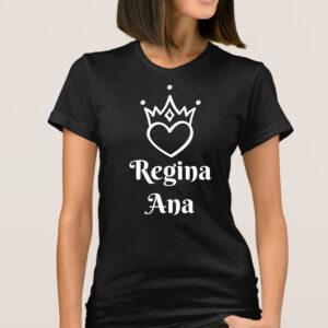 Tricou dama personalizat Regina negru