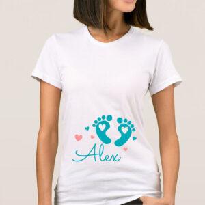 Tricou dama personalizat nume bebe baiat