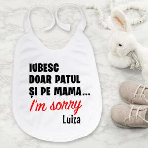 Bavețică personalizată bebeluși