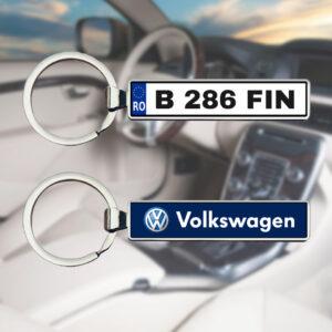 Breloc personalizat cu numar auto - Wolkswagen