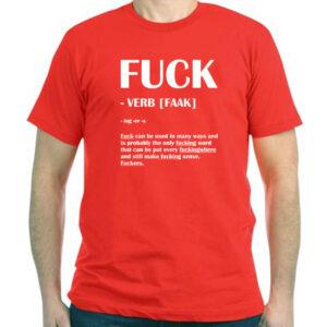 Tricou personalizat rosu Fuck