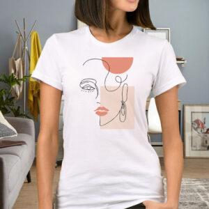 Tricou personalizat dama art face