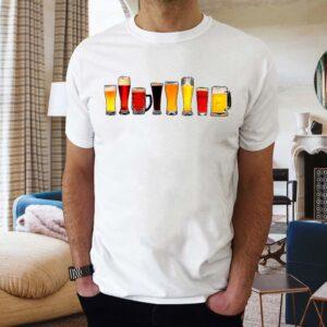 Tricou alb barbat personalizat tricou pentru bere