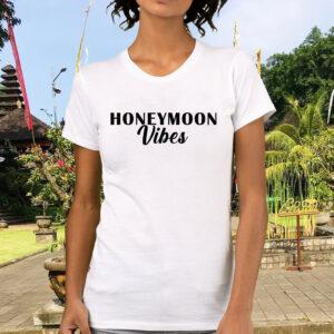Tricou alb dama personalizat Honeymoon vibes