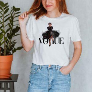 Tricou alb dama personalizat Princess Vogue