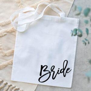 Sacosa alba personalizata Bride 2