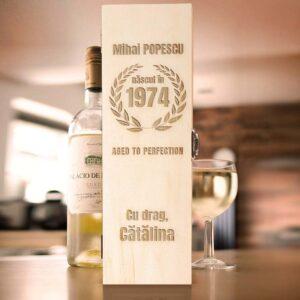 Cutie de vin personalizata - Aged to perfection