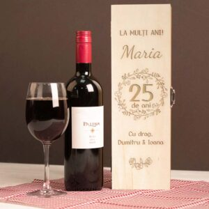 Cutie vin singulara aniversare + nume (1)