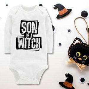 Body copil personalizat de Halloween son of a witch