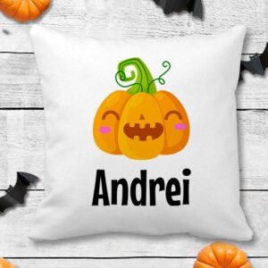 Perna personalizata de halloween cu dovlecel si nume 3