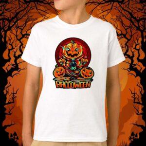 Tricou alb personalizat baiat halloween